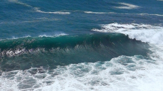 Sea Wave Breaking Footage Foam Drone Water Beach Hawaii Nature Surf Aerial Crashing Storm Tourism Power Nature Travel