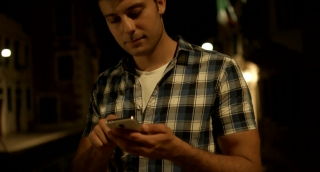 Young Man Smartphone Business Texting Vacation Italy Technology Travel