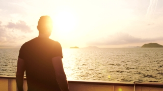 Youth Joy Happy Travel Vacation Freedom Young Man Success Happiness Ship Land Island Life Choices Successful Silhouette Power Uhd 4K