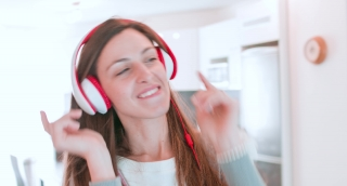 Music Woman Fashion Party Person Girl House Internet Dance Technology Dj Beautiful Female Young Attractive Headphones People Happy Smile Sound Caucasian Lifestyle
