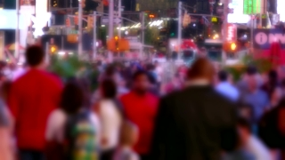 Crowd City Street Times Square Blurred Motion People Manhattan USA New York Pedestrians Tourism Famous Timelapse Footage Tourists