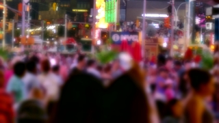 Blurred Motion People City Street Times Square Crowd Manhattan New York USA Tourism Pedestrians Timelapse Famous Tourists Footage