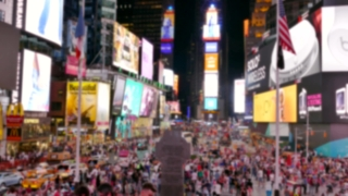 New York Street City Crowd Manhattan Times Square USA Tourism People Famous Tourists Footage Travel Buildings Dusk Illuminated Commercial Sign