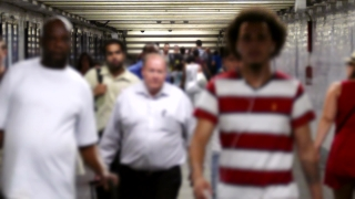 People Walking Subway Travel New York City Lifestyle Footage Commuters Station Crowd Motion Transportation Underground Timelapse
