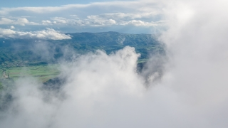 Fog Landscape Aerial Mountains Scenery Travel Clouds Nature Idyllic Landscape Sky Footage Beauty Evergreen Forest Sunlight 4K Air Timelapse Scenic Geology