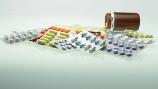 Pile of Pills Stack Medication Addiction Concept