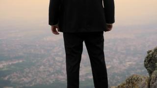 Businessman Raising Hands Business Success Concept Background HD