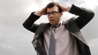 Business Problem Upset Businessman Pain Desperation Drama