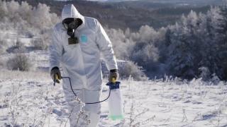 Biohazard Chemical Contamination Gas Mask Apocalypse Concept