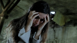 Depression Young Woman Mental Illness Concept Background HD