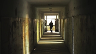 Man in Suit Walking in Tunnel Confident Hardship Concept HD