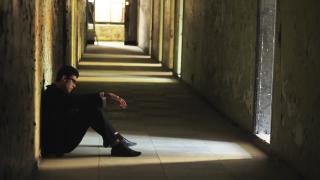Dark Tunnel Depression Man Thinking Failure Concept HD