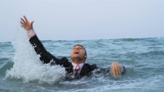 Businessman Drowning HD