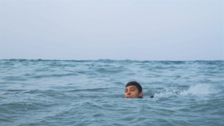 Man in Suit Drowning at Stormy Sea Business Problems Concept HD