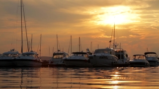 Sunset over Yachts HD