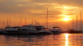Boats at Sunset HD