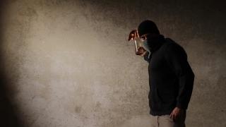 Riot Man Mask Molotov Cocktail Illegal Rebel Anarchist Concept