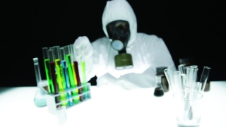 Radioactive Material Test Tube Chemist Gas Mask