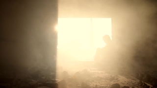 Sad Man Silhouette Smoke Desperation Deserted Concept