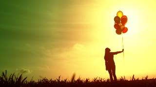 Bright Future Woman Silhouette Hope Concept