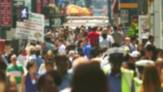 People New York City Street Blurred Motion People Manhattan Times Square USA Footage Tourism Pedestrians Tourists Lifestyle