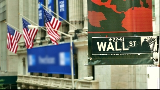 New York Stock Exchange American Flag Footage Wall Street USA Manhattan City Financial Business Banking Sign Famous Travel Landmark Tourism