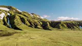 Majestic Aerial Flight Over Icelandic Mountain Range Green Grass And Snow Spring Inspiration Majesty Reverence Nature Travel Adventure