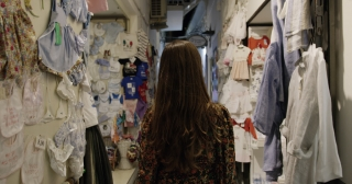 Female Model Walking Through European Town Shopping Fun Vacation Fashion Travel Slow Motion Shot Red Epic 8k