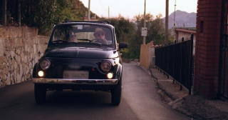 Beautiful Young Couple Exploring Europe In Vintage Car Success Vacation Leisure Slow Motion Shot Red Epic 8k