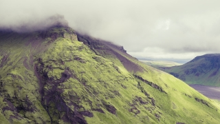 Epic Aerial Flight Over Icelandic Mountain Range Passing Clouds And Fog Spirituality Powerful Nature Travel Adventure