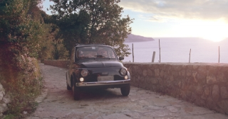 Beautiful Young Couple On Honeymoon In Old Retro Car Luxury Lifestyle Happiness Seeker Italy Adventure Slow Motion Shot Red Epic 8k