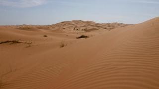 Helicopter Flight Over Desert Sand Texture Orange Colored Sand Wilderness Safari Adventure Low Light Uhd Hdr 4k