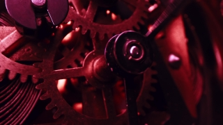 Rusty Clock With Moving Cogs Showing The Passing Of Time Time Is Short Death Slow Motion 8k