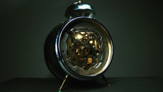 Rusty Clock With Moving Cogs Showing The Passing Of Time Short Life Death Slow Motion 8k