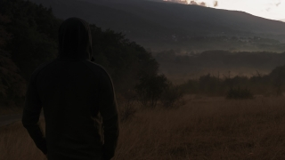 Lonely Hooded Man Enjoying Nature At Sunset In The Misty Mountains Youth Depression Hiking Lifestyle Slow Motion 8k