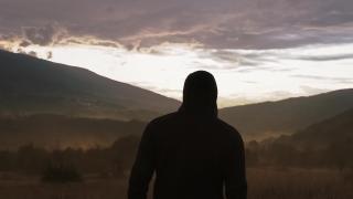 Young Depressed Man Enjoying Nature At Sunset At Sunrise Social Distance Travel Slow Motion 8k