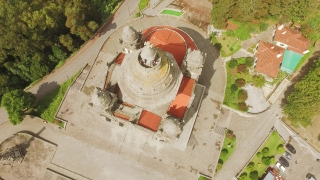 Drone Footage Santa Luzia Church Travel Architecture Portugal District Viana Do Castelo Famous Historic Southern Europe Dome Trees Landscape Old