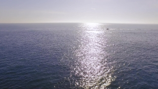 Drone Footage Seascape Sunlight Nature Idyllic Reflection Sky Summer Travel Peaceful View Ocean Rippled Europe Boat Portugal Horizon