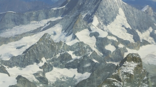 Drone Footage Swiss Alps Snowcapped Majestic Mountains Switzerland Aerial Major Natural Feature Idyllic Environment Famous Geology Travel Destination Europe