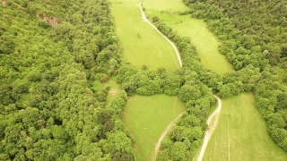 Green Nature Aerial Forest Landscape View Scenic Rural Land Meadow Tree Grass Field Summer Over Above Outdoors Scene Water Lake Country High Beautiful Environment Countryside Travel Spring  Aerial UHD
