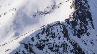 Earth Nature Beauty Winter Mountain Range Aerial Flight Epic Scale Inspirational Helicopter Footage