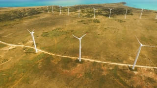 Turbine Energy Wind Power Sky Technology Environment Green Nature Electricity Windmill Generator Environmental Alternative Electric  Aerial UHD 4K