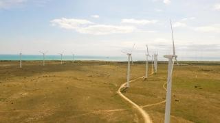 Energy Wind Sky Generator Renewable Concept Turbine Power Technology Environment Green Nature Electricity Windmill Environmental  Aerial UHD 4K