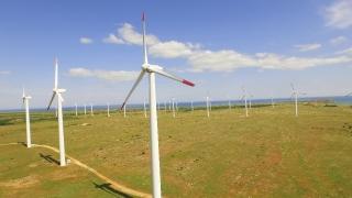 Wind Aerial Power Energy Turbine Windmill Electricity Generator Environmental Generate Alternative Technology Environment Sky Farm Efficiency Nature Generation Electric  Aerial UHD 4K