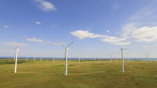 Technology Spring Wind Aerial Power Energy Turbine Windmill Electricity Generator Environmental Generate Alternative Environment Sky Efficiency Generation Electric  Aerial UHD 4K