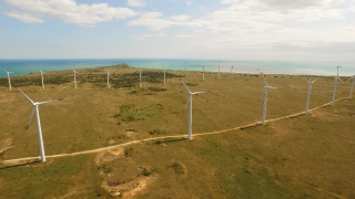 Summer Nature Technology Sun Spring Green Wind Electricity Power Turbine Energy Environment Alternative Generator Industry Windmill Environmental Sky Renewable Aerial UHD 4K