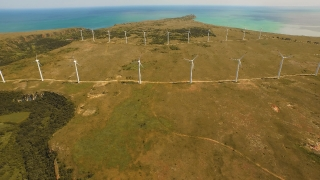 Green Wind Electricity Power Turbine Energy Environment Technology Alternative Generator Industry Windmill Environmental Sky Renewable Mill Conservation Nature  Aerial UHD 4K