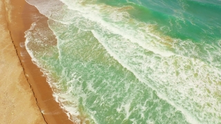 Beach Blue Sea Summer Sky Water Ocean Travel Vacation Tropical Wave Sand Sun Sunny Nature White Coast Paradise Sunlight Tourism Landscape Island Beauty Resort Relax Day  Aerial UHD 4K