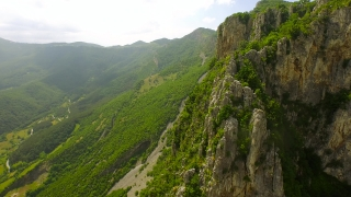 Epic Majestic Mountain Range Aerial Fly Over Cliffs Beauty Nature Freedom Travel Mountaineering Summit Rocks Hiking Adventure Vertical Cliffs