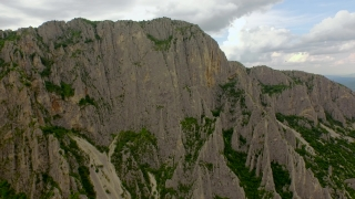 Beautiful Aerial Sharp Cliffs Rocks Hiking Extreme Mountain Chain High Altitude Epic Hiking Trail
